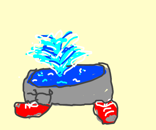 Fountain wearing Shoes