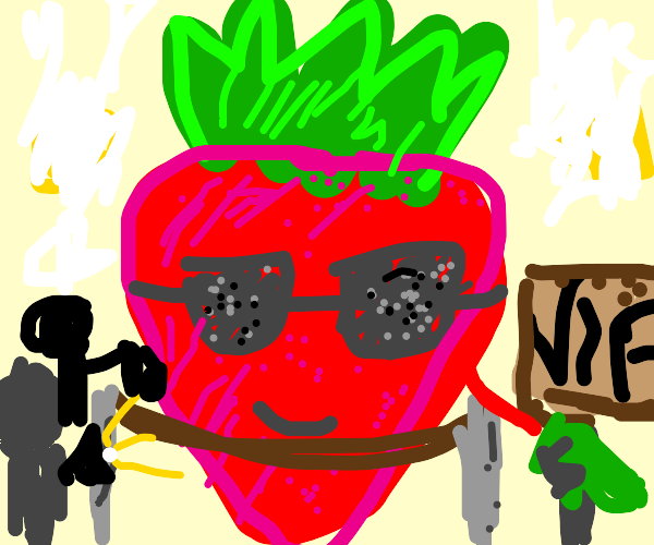 a rich smug VIP celebrity strawberry