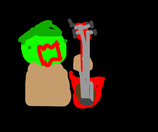 Zombie with a guitar