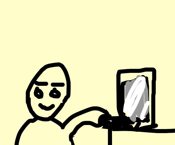 Using my laptop