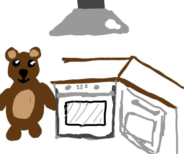 Bear in da kitchen