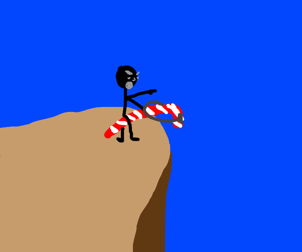 Riding the candy cane TO DEATH!