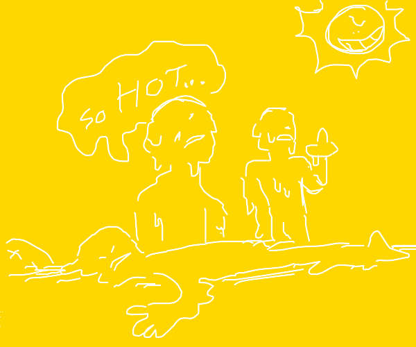 people melting in the sun