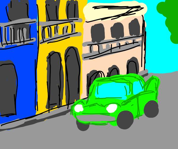 Havana colorful buildings