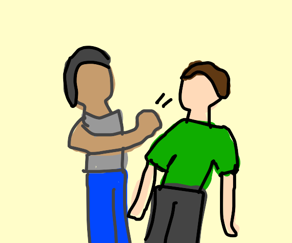 A guy punching another guy