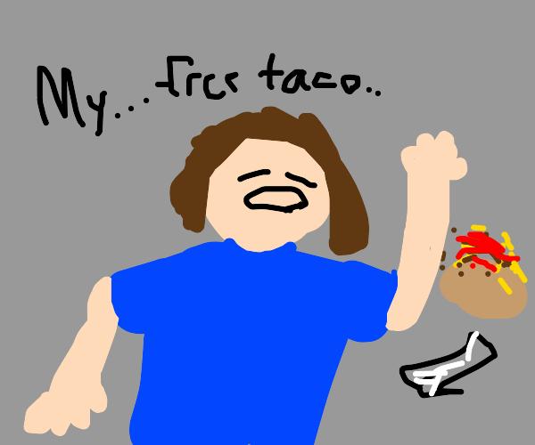 Aww you know this boy's got his free taco-
