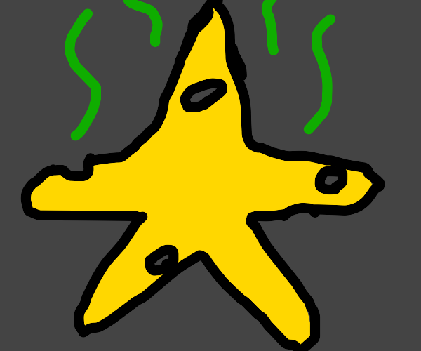 a star made of smelly cheese