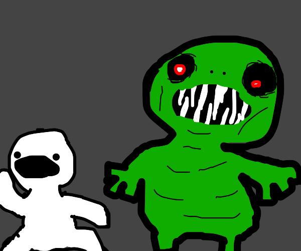 Terrifying Green Monster