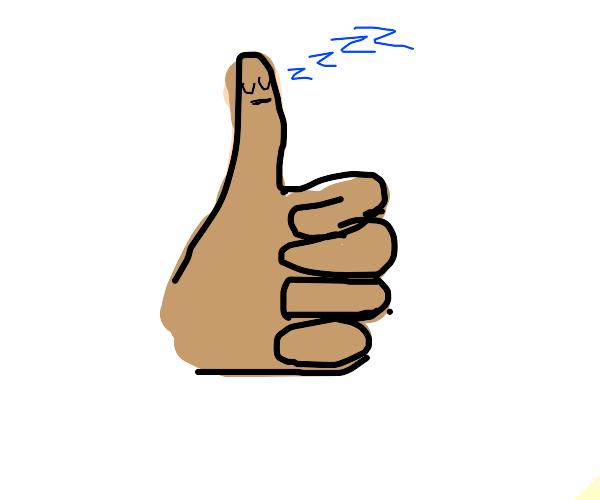 sleeping thumb