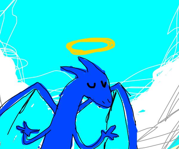 Angelic blue dragon