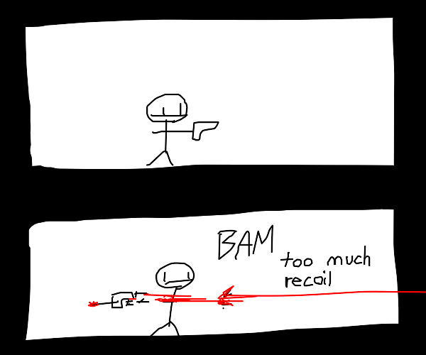 Gun recoil rips off man's arms