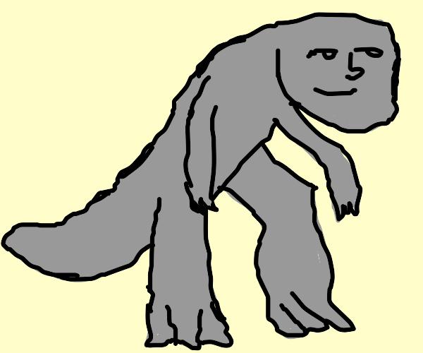 Godzilla but she has a lenny face