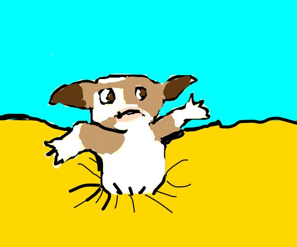 Gremlin sinking into Quicksand