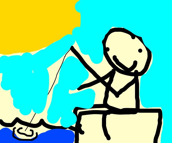 Man Gone Fishing