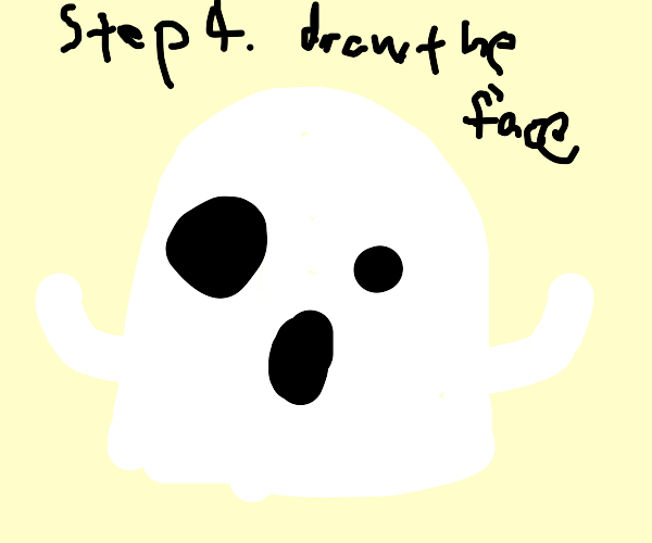 how to draw a ghost: four step guide