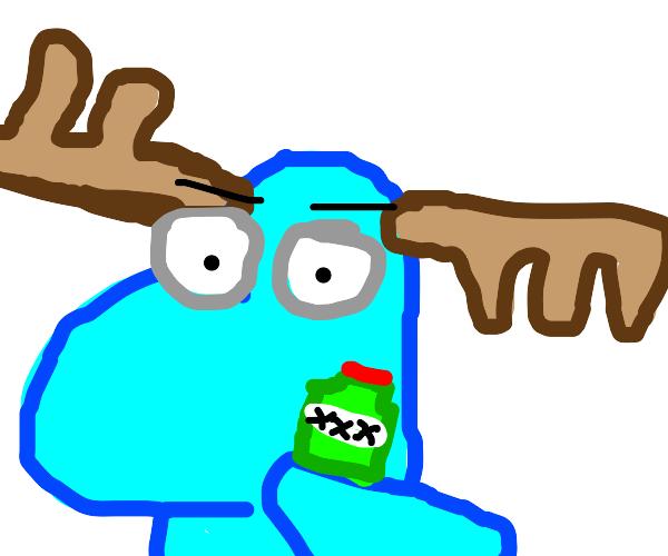 moose gets drunk