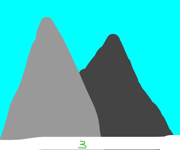 Three green under mountain