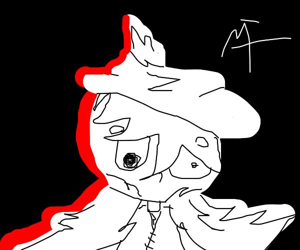 sad rag doll wizard boy with white robes