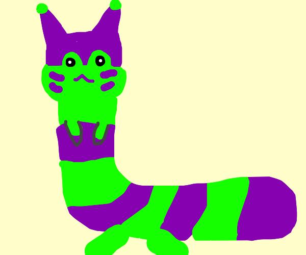 Purple and green furret