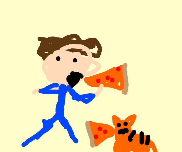 Jon From Garfield Eats Pizza Drawception