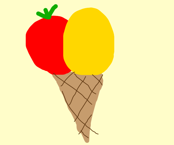 ketchup and mustard flavoured ice cream