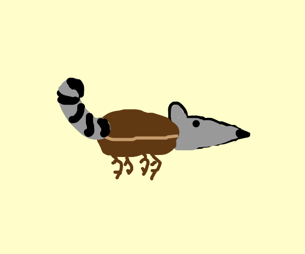 Mouse with cockroach body and raccoon tail