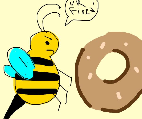 Bee firing Bagel