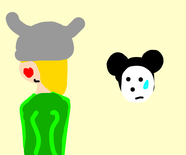 Emo viking is madly in love with Mickey Mouse
