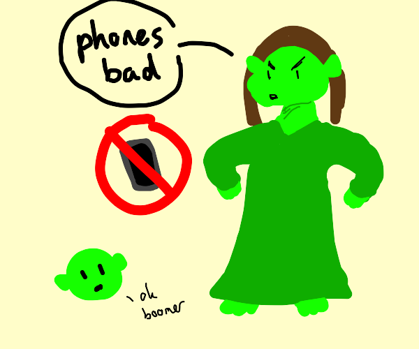 Princess Fiona is a Boomer who hates phones