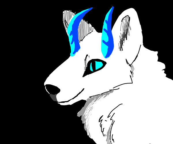 horned ice wolf