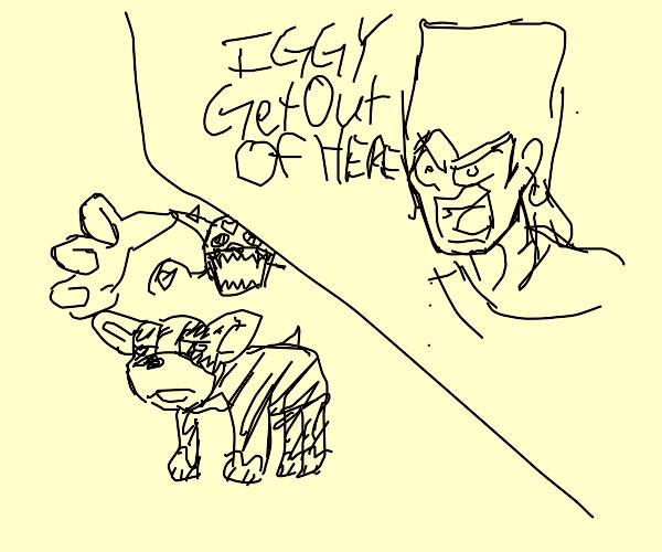 Polnareff - Iggy, Get Out!