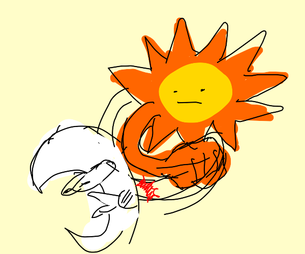 sun punches the moon