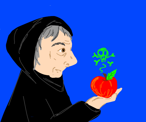 Queen witch has poisonous apple