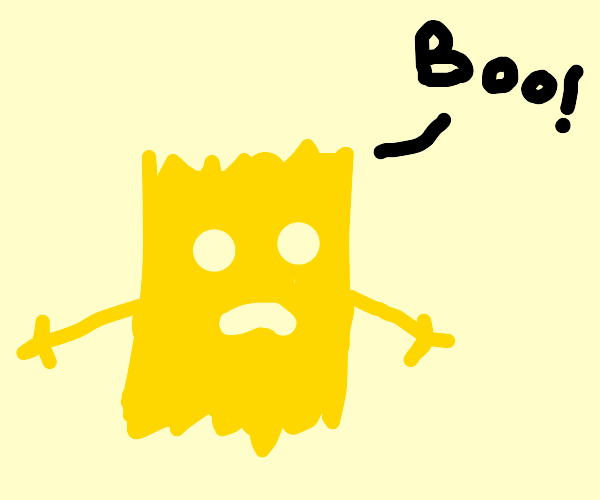 Bart Simpson as a ghost