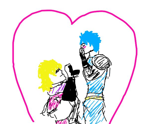 Dio proposing to Jonathan