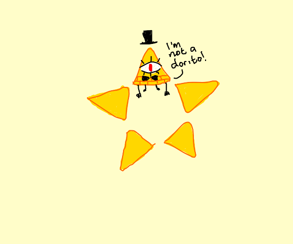 Orange star dorito