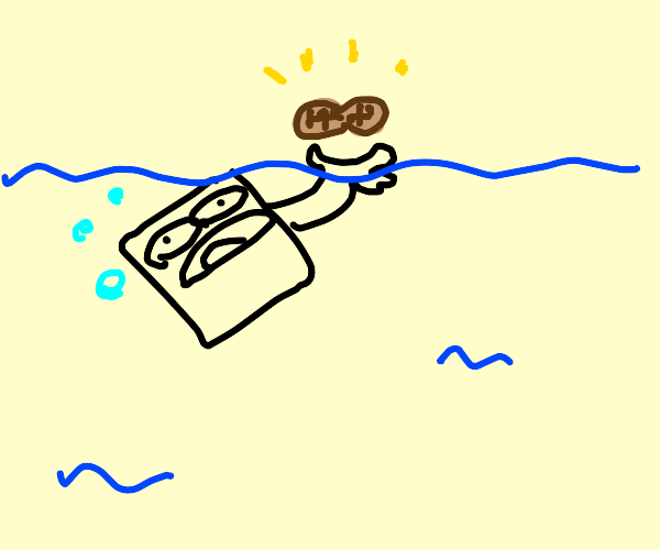 Drowning box holds a nut