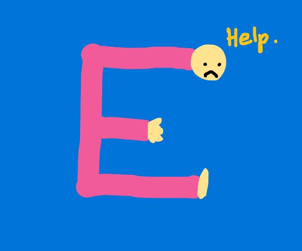 a human E