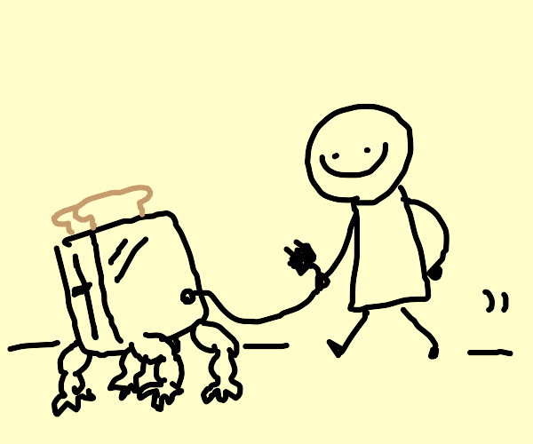 taking your toaster on a walk