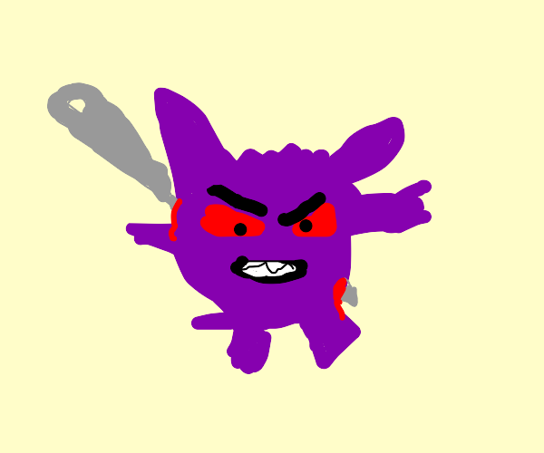 Gengar with a needle stuck in them