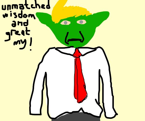 president yoda is big sad