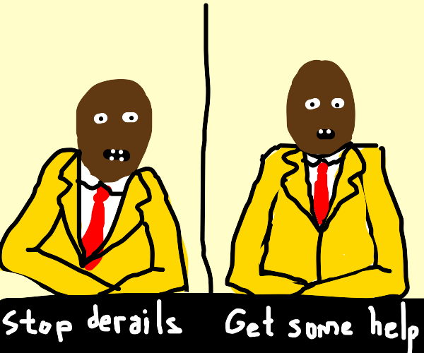 Man asks you to please stop derails