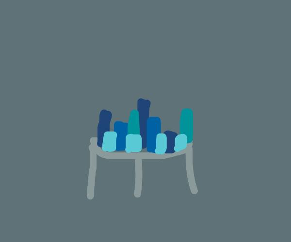 City on a table