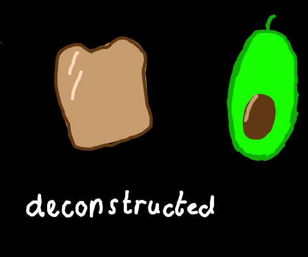 Deconstructed avacado toast