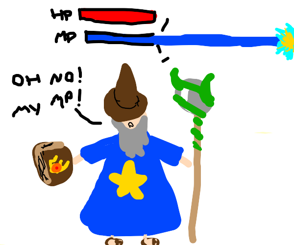 Wizard can't hold his MP.