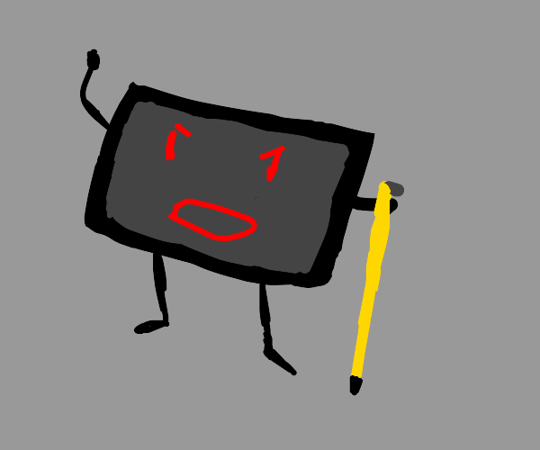 Tablet uses a stylus as a cane