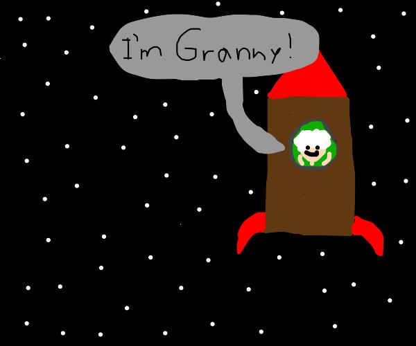 Grandma in space