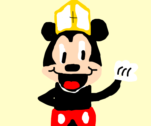 Mickey Mouse is a pope