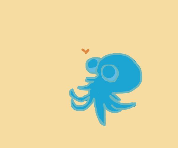 octopus is happy