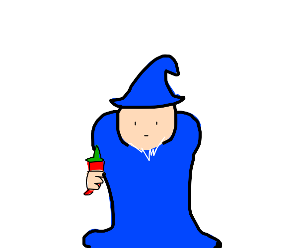 Wizard hands you a chilli.